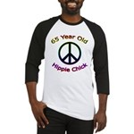 Hippie Chick 65th Birthday Baseball Jersey