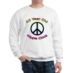 Hippie Chick 65th Birthday Sweatshirt