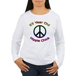 Hippie Chick 65th Birthday Women's Long Sleeve T-S