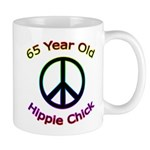 Hippie Chick 65th Birthday Mug