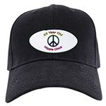 Hippie Chick 65th Birthday Black Cap