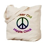 Hippie Chick 65th Birthday Tote Bag