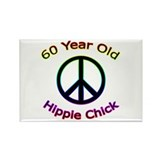 Hippie Chick 60th Birthday Rectangle Magnet (100 p