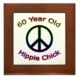 Hippie Chick 60th Birthday Framed Tile
