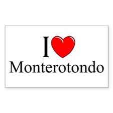 """I Love (Heart) Monterotondo"" Rectangle Decal"