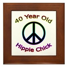 Hippie Chick 40th Birthday Framed Tile