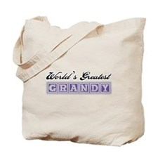 World's Greatest Grandy Tote Bag