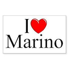 """I Love (Heart) Marino"" Rectangle Decal"