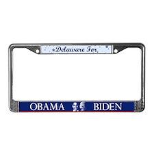 Delaware for Obama License Plate Frame