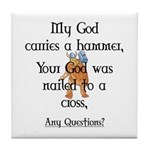 Any Questions? Tile Coaster