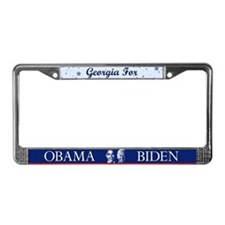 Georgia for Obama License Plate Frame