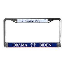 Illinois for Obama License Plate Frame