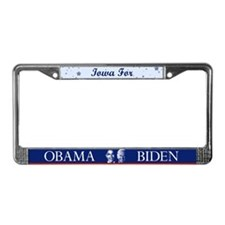 Iowa for Obama License Plate Frame