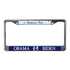 Kansas for Obama License Plate Frame