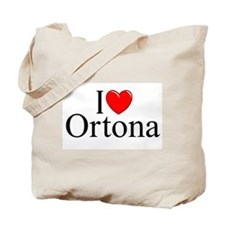 """I Love (Heart) Ortona"" Tote Bag"