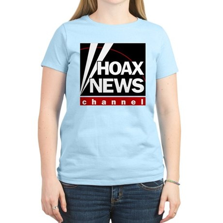 Hoax News Womens Pink T-Shirt