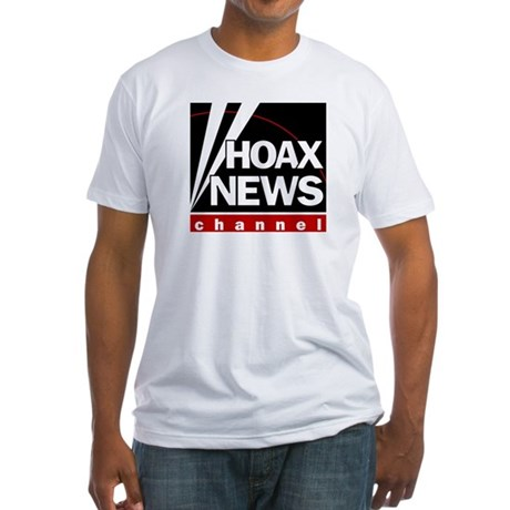 Hoax News Fitted T-Shirt