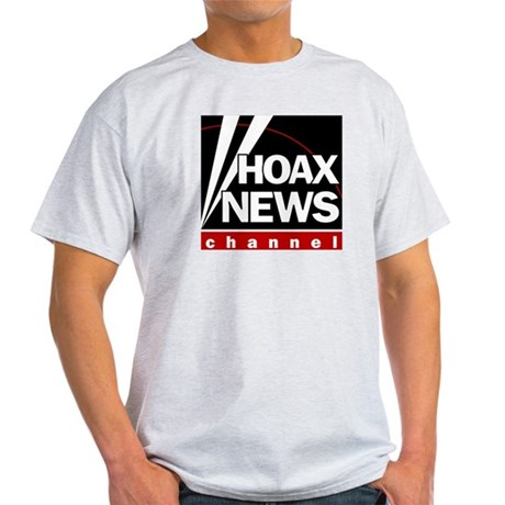 Hoax News Ash Grey T-Shirt