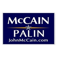 McCain / Palin Official Logo Rectangle Decal