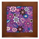 Purple Daze Framed Tile