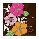 Bubblegum Blooms Tile Coaster