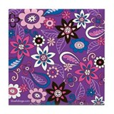 Purple Daze Tile Coaster