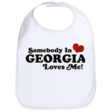 Somebody in Georgia Loves Me Bib