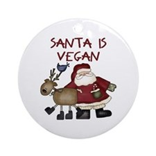 Santa Is Vegan Christmas Tree Ornament
