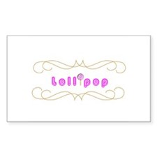 Lollipop Rectangle Decal