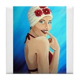 Bathing Beauty Tile Coaster