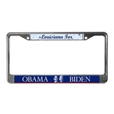 Louisiana for Obama License Plate Frame