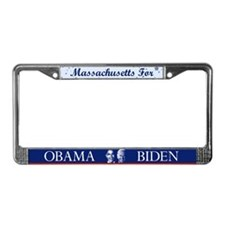 Massachusetts for Obama License Plate Frame