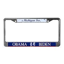 Michigan for Obama License Plate Frame