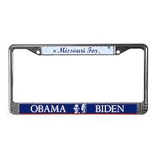 Missouri for Obama License Plate Frame