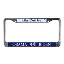 New York for Obama License Plate Frame