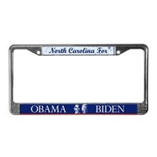 North Carolina for Obama License Plate Frame