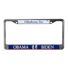 Oklahoma for Obama License Plate Frame