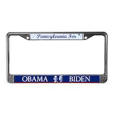 Pennsylvania for Obama License Plate Frame