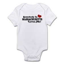 Somebody in Massachusetts Loves Me Infant Bodysuit