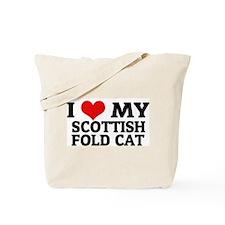 I Love My Scottish Fold Cat Tote Bag