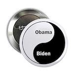 Obama-Biden Yin Yang Button (2.25 inches)