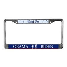 Utah for Obama License Plate Frame