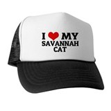 I Love My Savannah Cat Trucker Hat