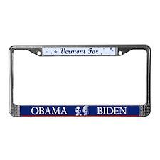 Vermont for Obama License Plate Frame