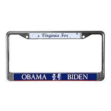 Virginia for Obama License Plate Frame