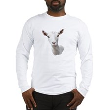 Saanen Goat Portrait Long Sleeve T-Shirt