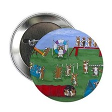 "Agility Corgis Gone Wild! Pem 2.25"" Button (100 pa"