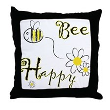 Cute Bees Throw Pillow
