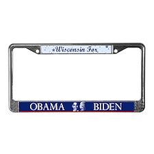 Wisconsin for Obama License Plate Frame