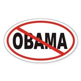 Anti Obama Euro Oval Decal